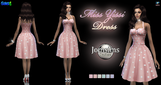 Miss Yissi dress click image to download women's clothing area on http://www.jomsimscreations.fr WEBSITE
