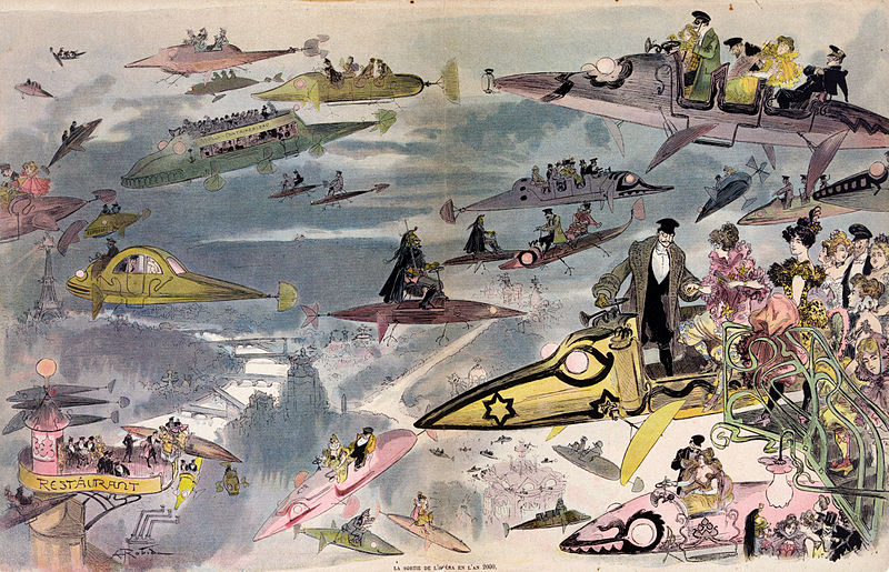 16-A-Night-at-the-Opera-Albert-Robida-En-L-An-2000-wikimedia-Futurism-with-Illustrated-Postcards-from-the-1900s-www-designstack-co