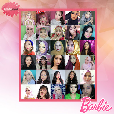 BARBIE MAKEUP LOOK COLLABORATION WITH BEAUTIESQUAD