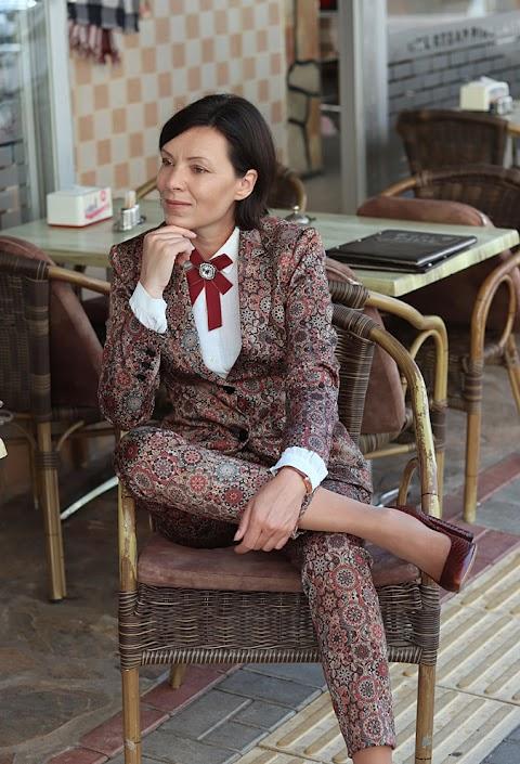 Wzorzysty garnitur