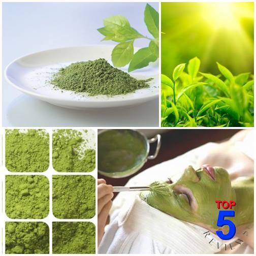 Làm mặt nạ trị mụn với bột lá trà xanh