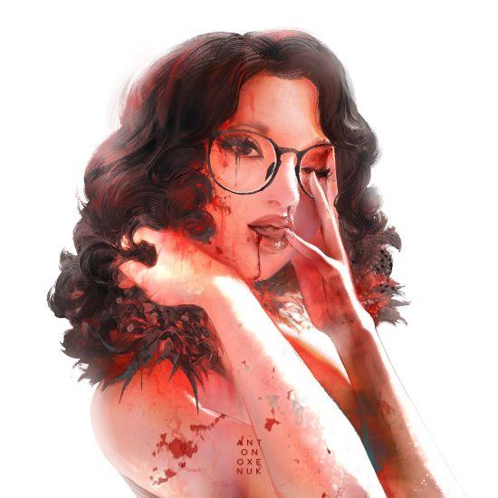 Anton Oxenuk artstation deviantart arte ilustrações fantasia mulheres vampiras pinturas digitais