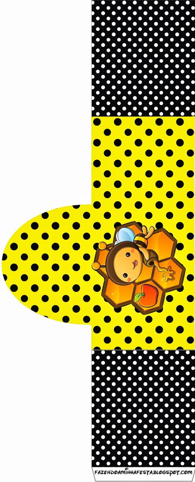 Etiquetas de Abejitas Bebé para imprimir gratis