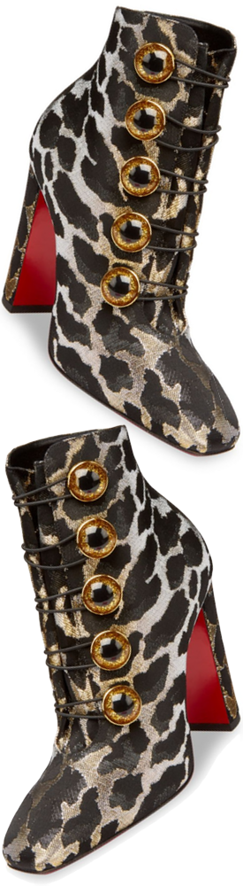 Christian Louboutin Lady See Lurex Feline Booties
