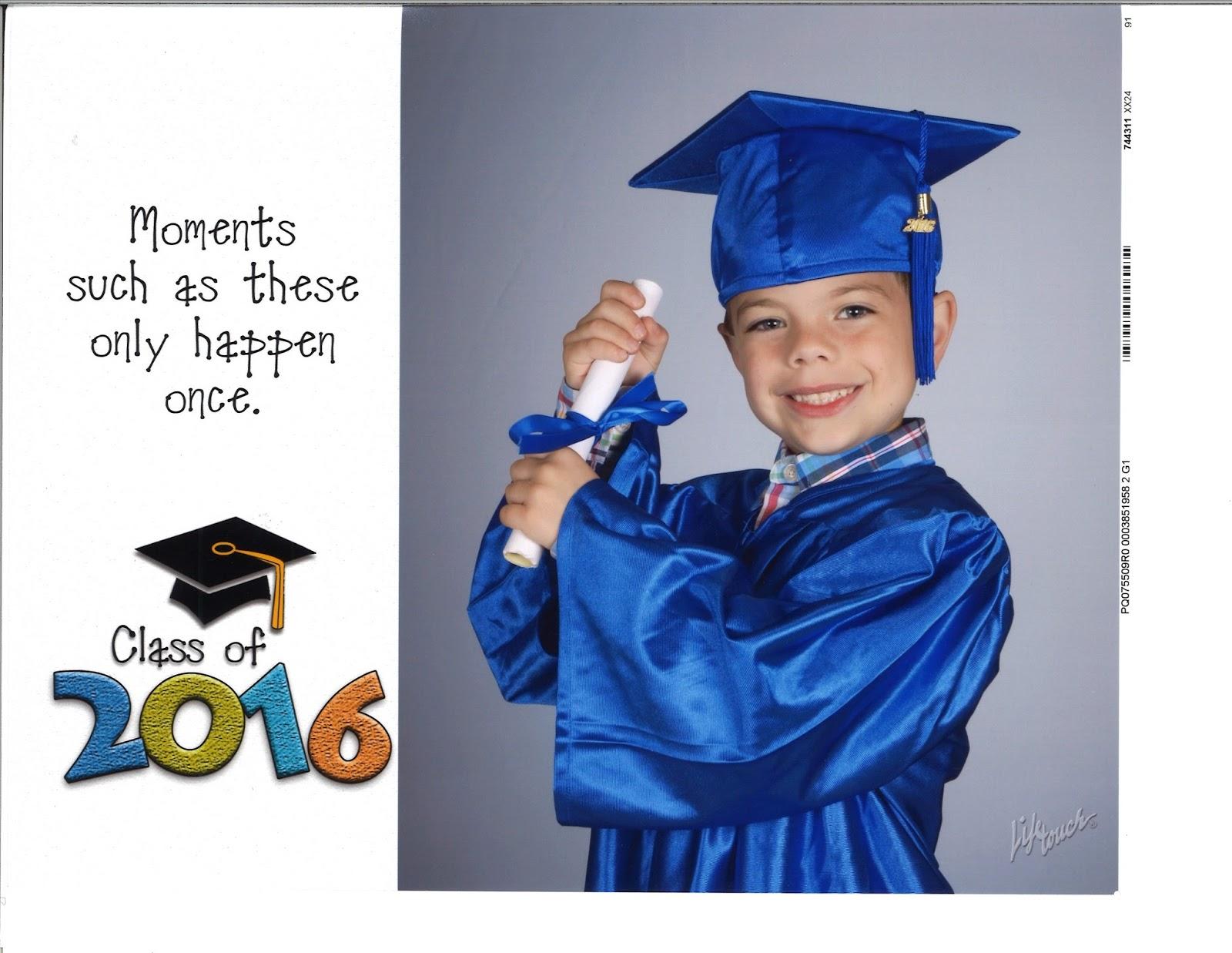 the calvert family preschool graduation pictures