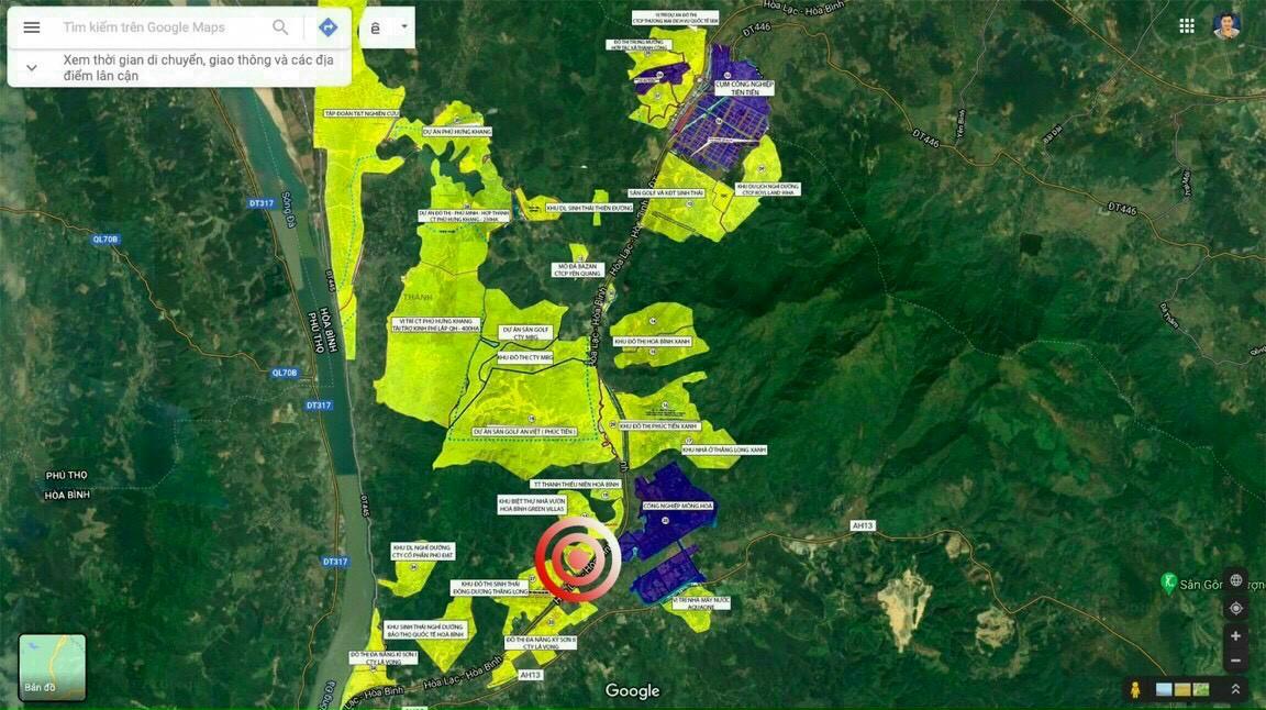 Hoà bình Green Valley vị trí dự án