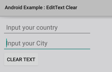 How to clear EditText in Android