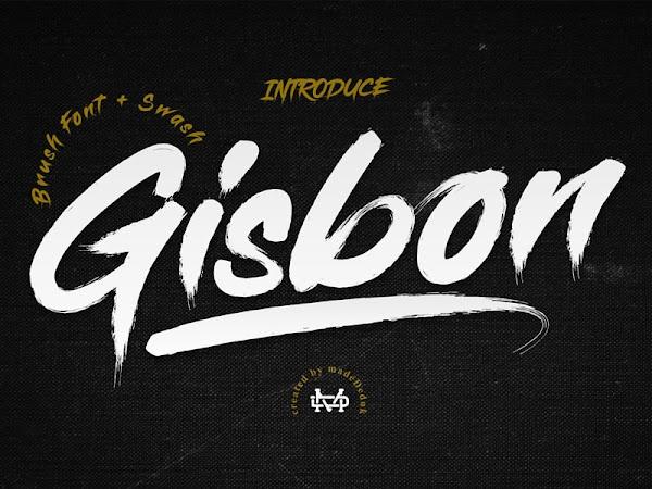 Gisbon Brush Typeface Free Download