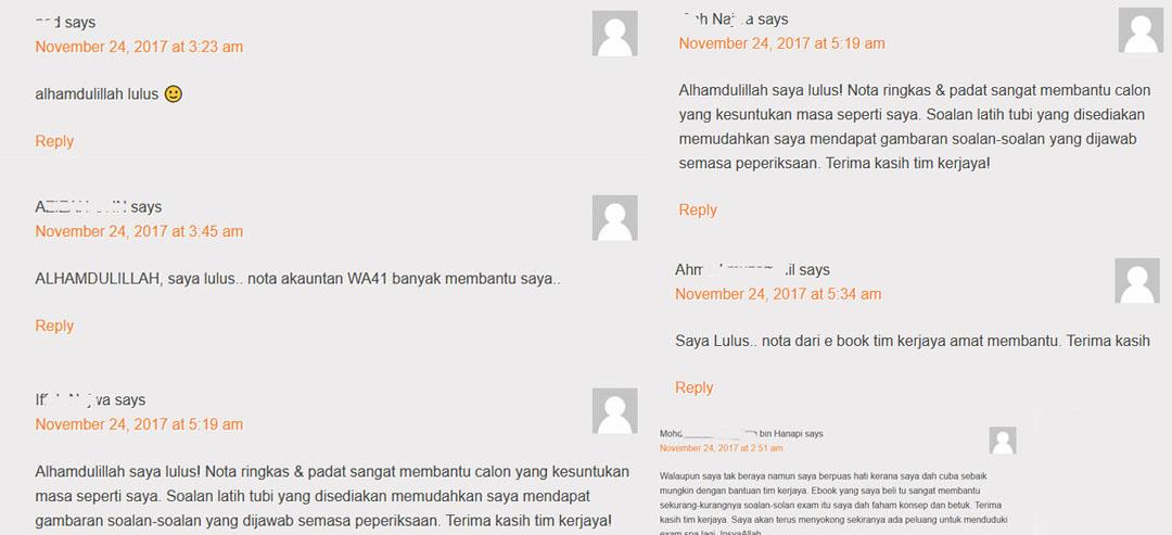Testimoni Lulus Exam Akauntan WA41