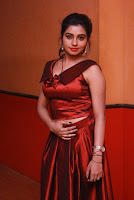Tamil Actress Anisha Xavier Pos in Red Dress at Pichuva Kaththi Tamil Movie Audio Launch  0016.JPG