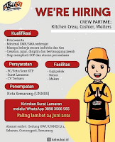 Lowongan Crew Part Time Katsukai Semarang