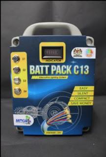 Source: MESTECC. Battery Pack C13.