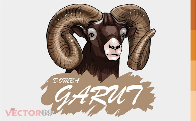 Kepala Domba Garut - Download Vector File AI (Adobe Illustrator)