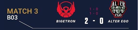Bigetron Esports (2) - (0) Alter Ego