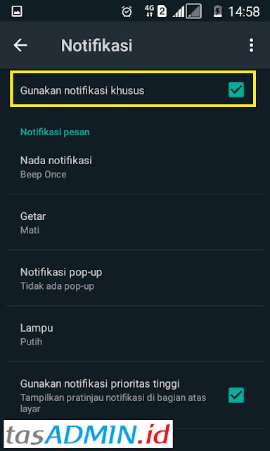 notifikasi khusus  grup wa