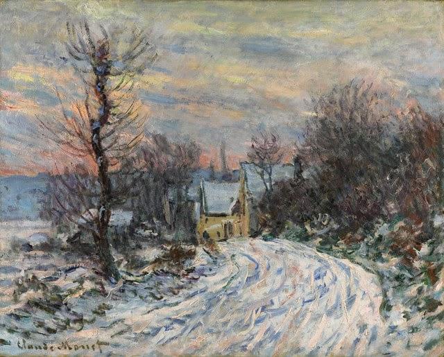 Клод Моне Дорога в Живерни зимой