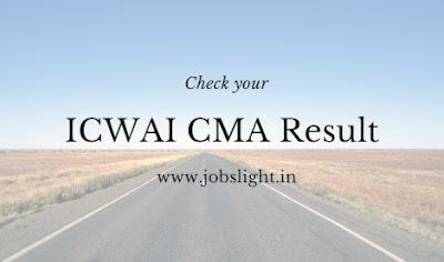 ICWAI CMA June Result 2017