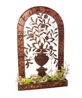 Large Outdoor Ornate Wall Planter