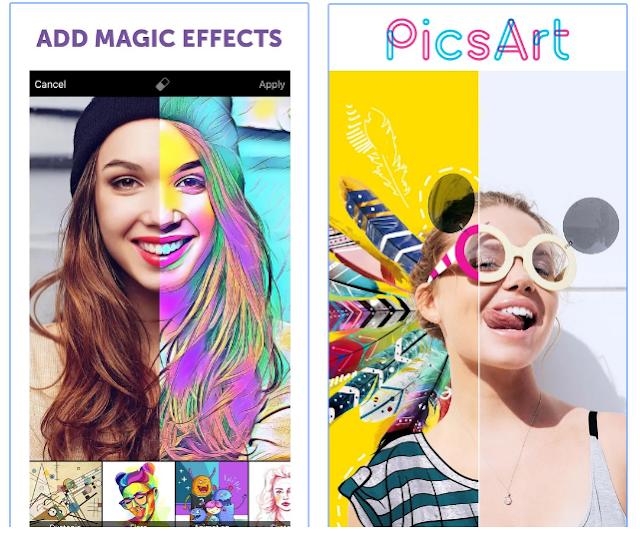 اخر اصدار من افضل برامج تعديل الصور للاندرويد و الاى فون PicsArt