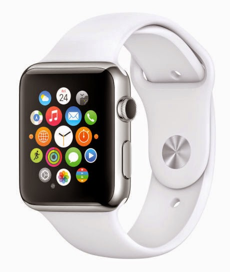 Photo of an Apple Watch with the face showing a collection of app icons