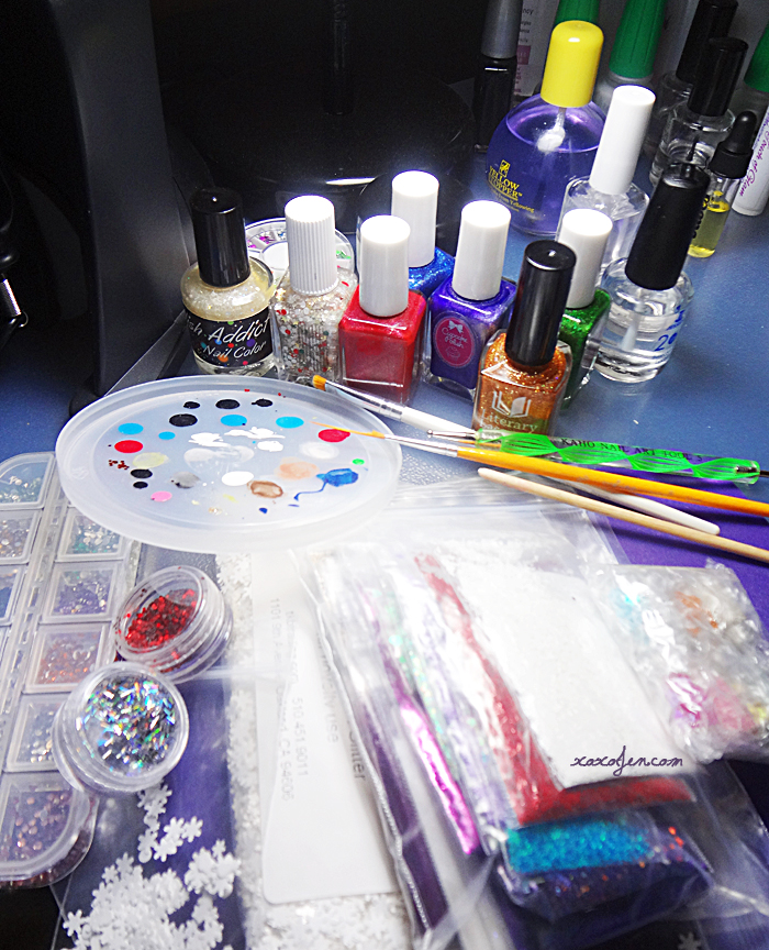xoxoJen's Holiday nail art supplies 2014