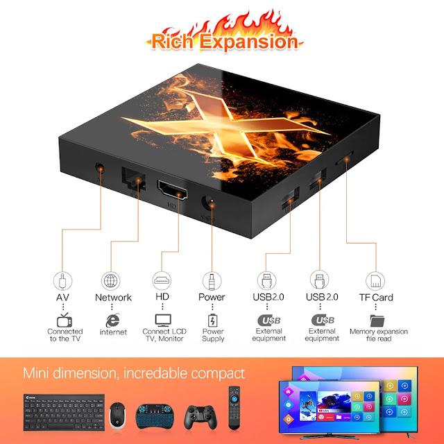 VONTAR X1 Smart tv box android 10 4g 64gb 4K 1080p 2.4G&5G Wifi BT5.0 Google Voice Assistant Youtube TVBOX Set Top Box