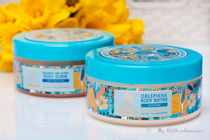 Natura Siberica Professional | Rokitnikowo - miodowy scrub i Rokitnikowe odżywcze masło do ciała