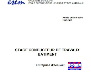 rapport de stage conducteur travaux batiment