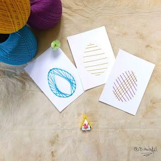 BIDULAFIL broderie papier pâques