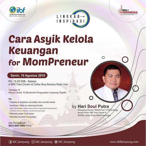 Cara Asyik Kelola Keuangan untuk MomPreneur bersama Hari Soul Putra