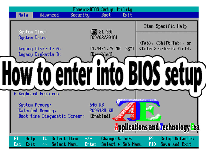 Enter to BIOS Setup on Any Laptop or Desktop | AppTechEra
