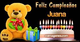 Feliz cumpleaños Juana