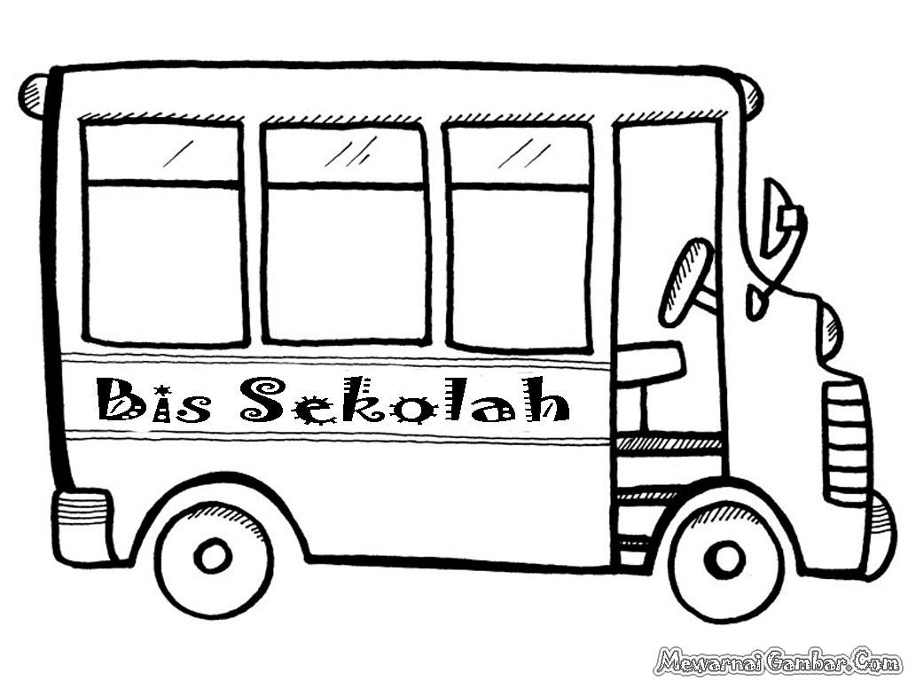 Mewarnai Kartun Bus Sekolah Modifikasi Sepeda Motor