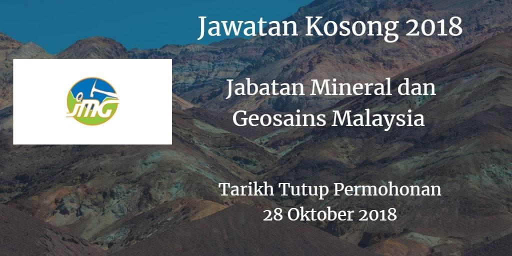 Jawatan Kosong JMG 28 Oktober 2018