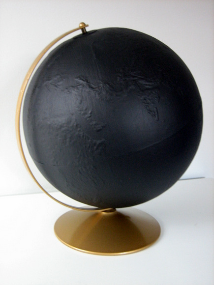 DIY Globe Chalkboard