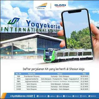 Jadwal Kereta Api Bandara Internasional Yogyakarta NYIA