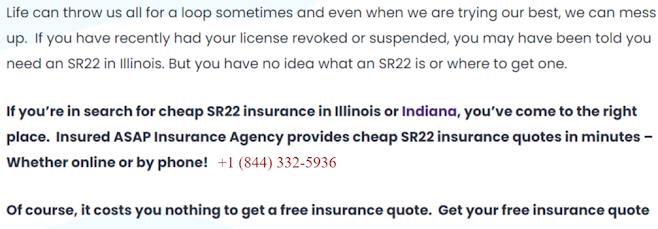 How much does sr22 insurance cost in Illinois