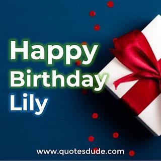 Happy Birthday Lily Gift