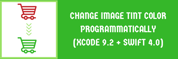 How to change image tint color programmatically in swift