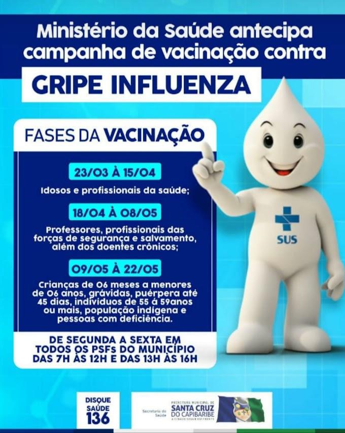 Vacina contra gripe: Confira as datas de vacinação para cada público alvo da campanha