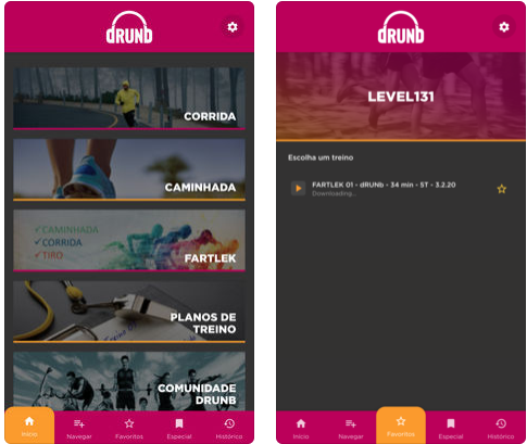 Aplicativo Drunb - Seu Personal Trainer Digital