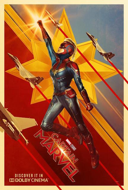 capitã marvel bri larson marvel poster