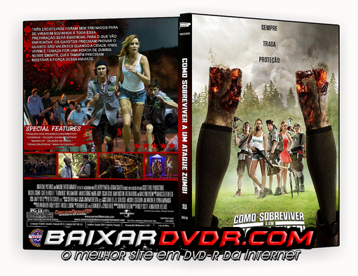 COMO SOBREVIVER A UM ATAQUE ZUMBI (2015) DUAL AUDIO DVD-R CUSTOM