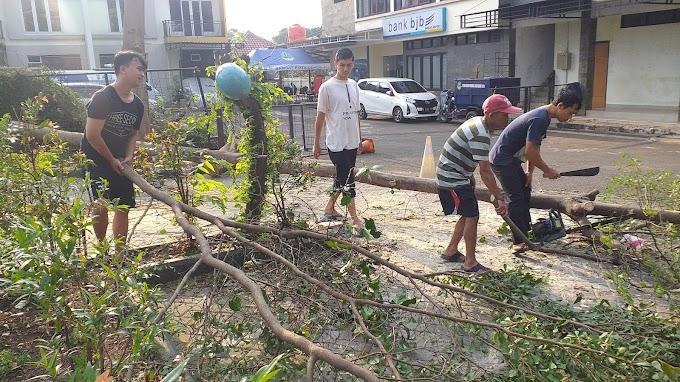 Demi Kenyamanan, Samsat Depok Pangkas Pohon Rawan Tumbang
