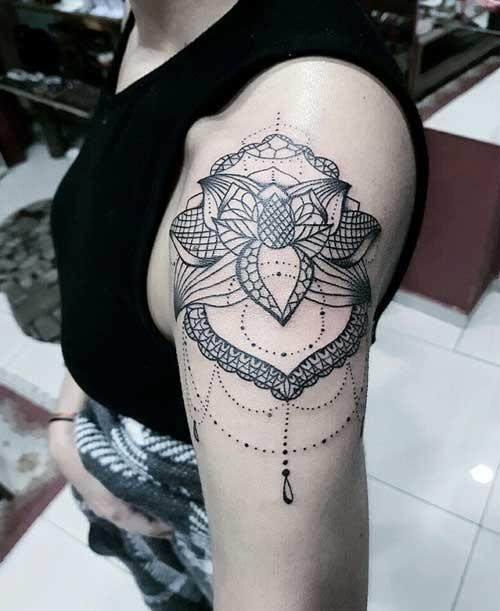 dantel dövmeleri lace tattoos 7