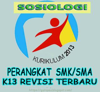 RPP Kurikulum 2013 Sosiologi kelas 10 SMA/SMK  Revisi 2018