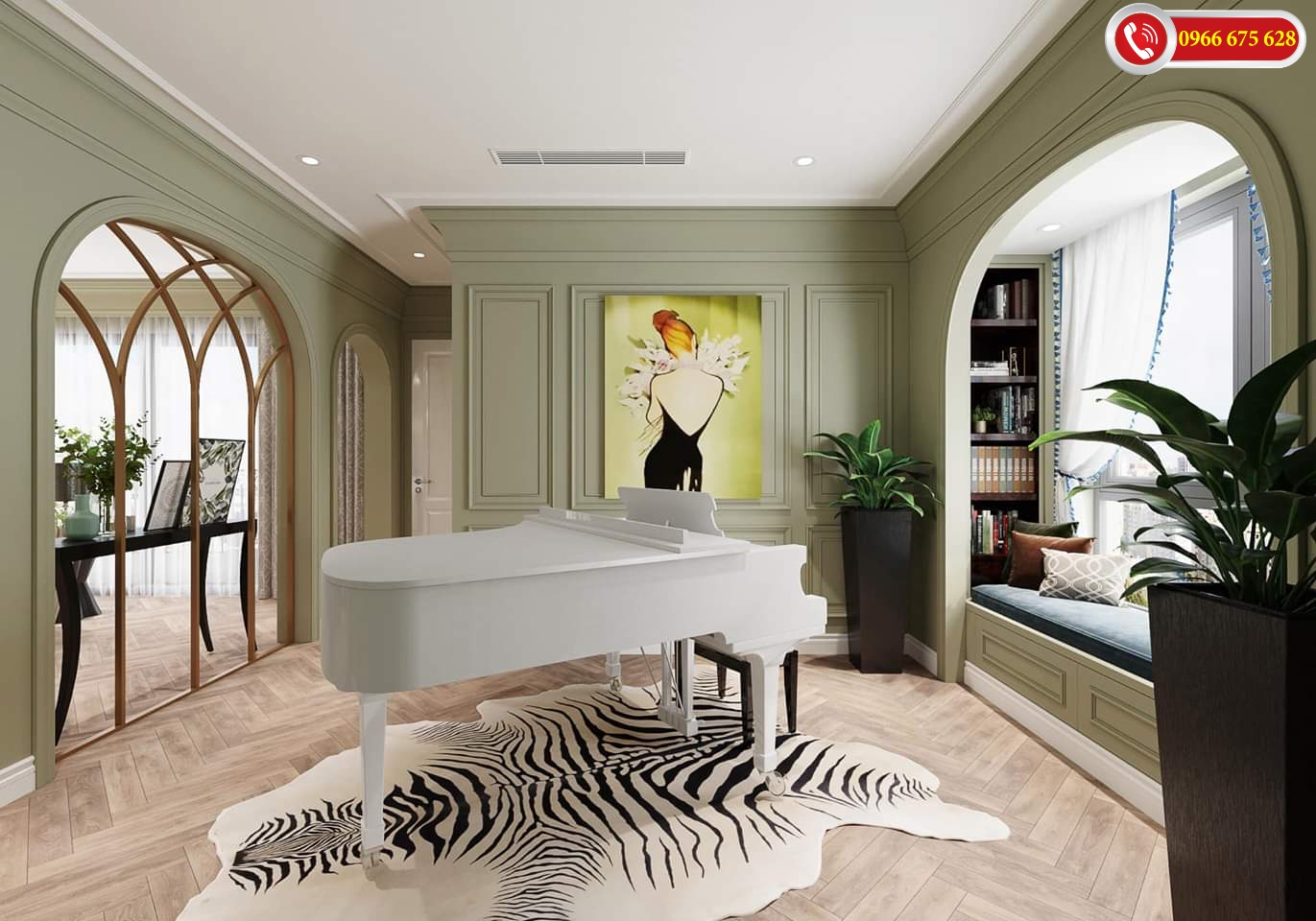 Khu vực chơi đàn Piano tại 622 Minh Khai
