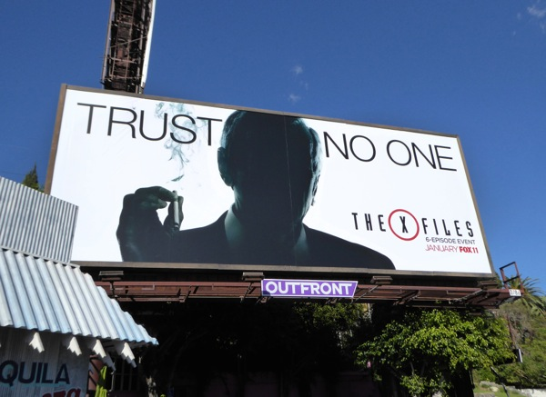Trust No One X-Files 2016 miniseries billboard