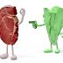 Propaganda vegana e carne: separando o fato da ficção.