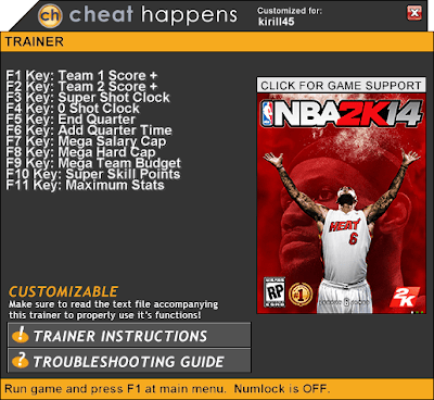 NBA 2K14 PC Cheats Trainer Hacks